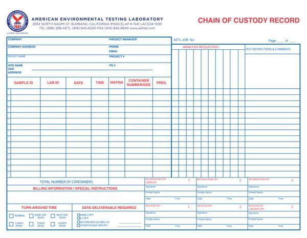 Chain of Custody Record